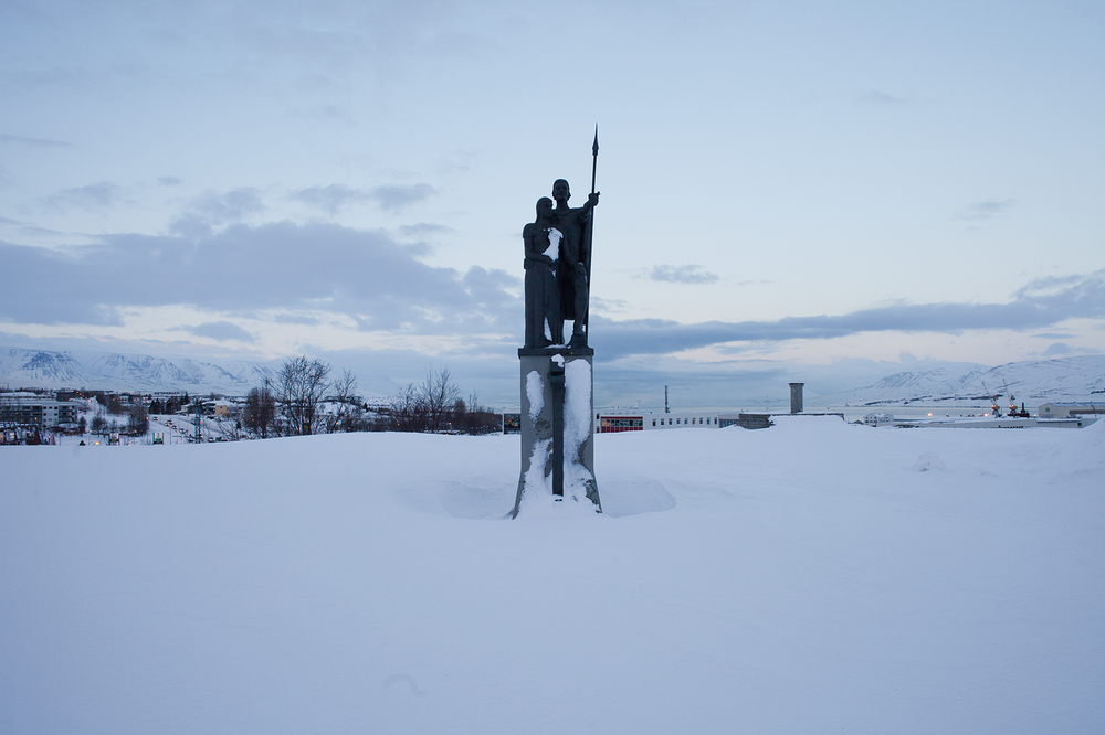 "65°41'12.6""N 18°05'53.4""W ,  18/12/2014, 1324 Settlers' Monument, Akureyri, Iceland"