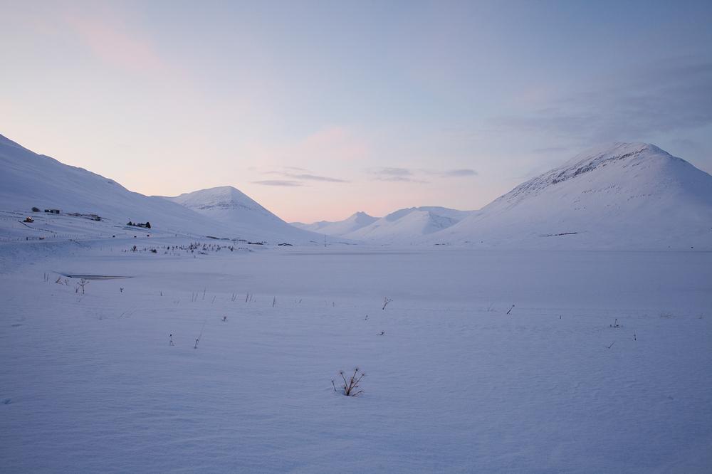 """66°03'43.0""""N 18°40'04.3""""W ,   24/12/2014, 1128 Dawn, Ólafsfjarðarvatn, Ólafsfjörður, Iceland"""