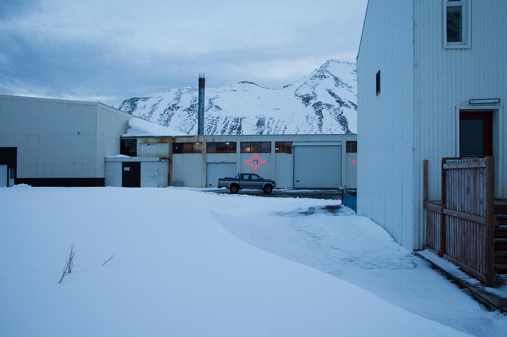 """66°09'08.5""""N 18°54'26.6""""W ,  05/01/2015, 1445 Neon,  Siglufjörður, Iceland"""
