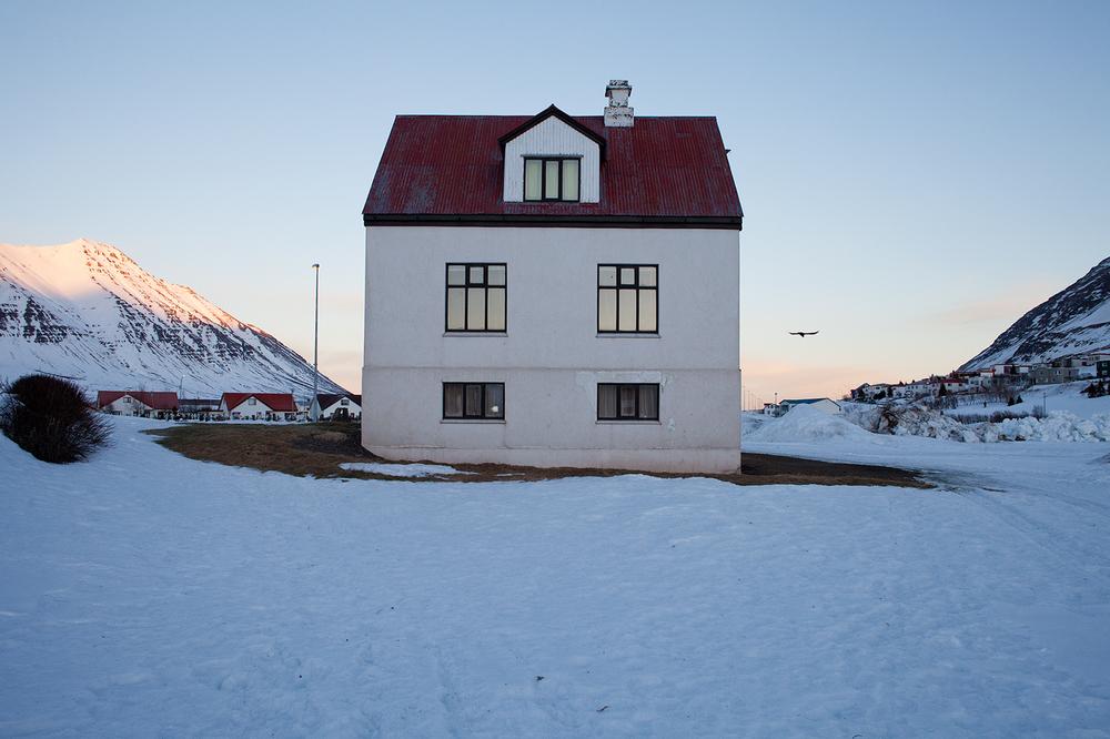 """66°04'13.3""""N 18°39'05.7""""W ,  10/01/2015, 1408 Raven,  Ólafsfjörður, Iceland"""