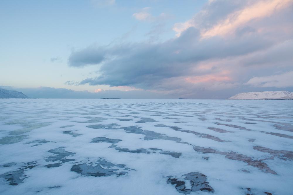 "65°44'13.7""N 19°26'21.6""W ,  16/02/2015, 1739 Snowdrifts, Artic Ocean overflow,  Sauðárkróksbraut, Iceland"