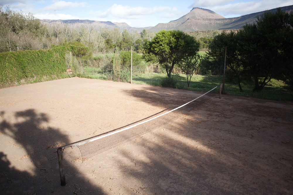 "32°18'36.5""S 24°58'12.4""E ,  17/03/2015, 1641 Dirt tennis court, Asante Sana Game Reserve, Eastern Cape, South Africa"