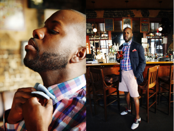 L. Kasimu Harris for the South's Most Stylish Cities feature in Southern Living, photo by Cedric Angeles.