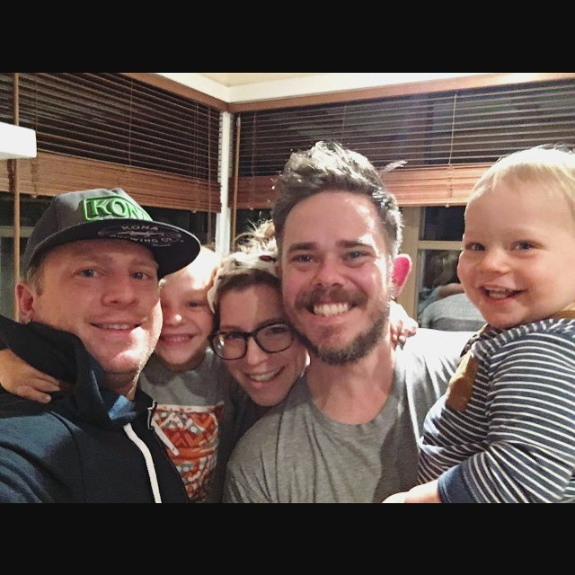 Throwback to few weeks back when @nickocizej & Cyrus came for a surprise visit! ❤️️ #family #whyishawaiisofar