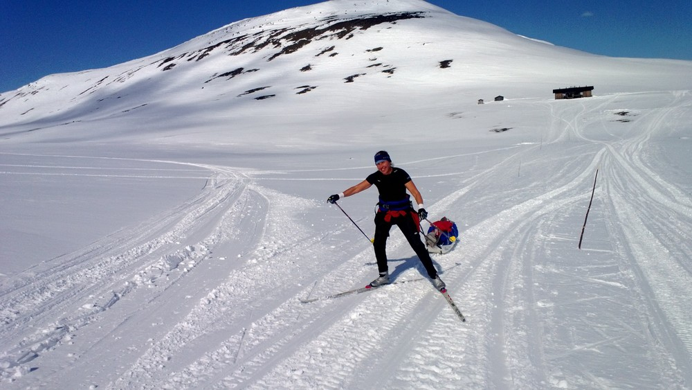 Summer skiing on Halti. I'm glad that the snow held up!