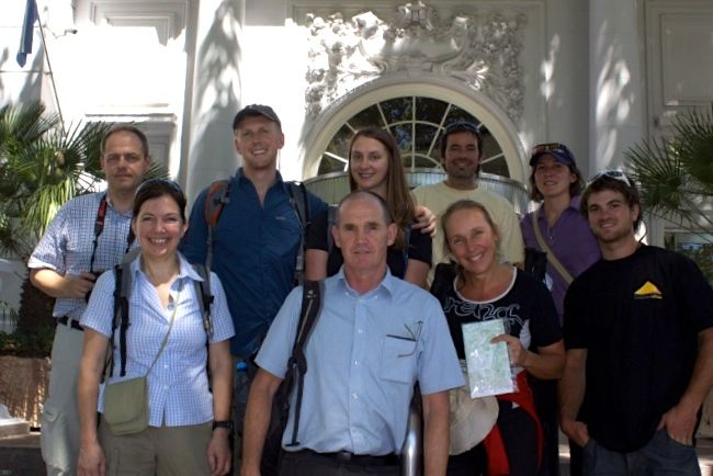 The group in Mendoza, photo from the Aventuras Patagonicas web-site. I always have to have a map to know where I am.