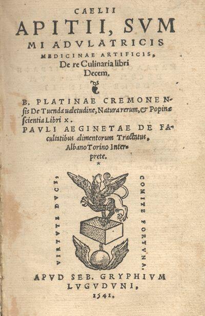 Apicius,De re culinaria, an early collection of recipes.