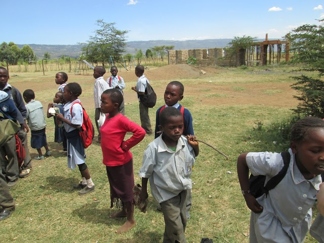 The school children in Kenya that the toilets were built for
