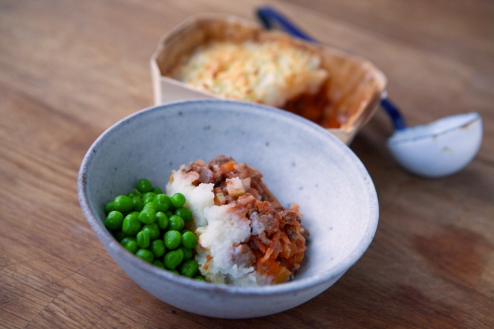Shepherds Pie with Minted Pea's