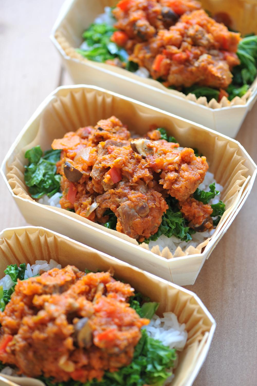Squash, lamb & bulgar wheat curry