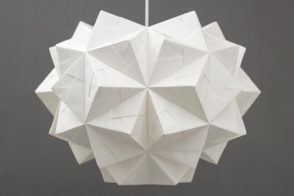 FOLDABILITY Origami lampshade Chloe pendant john lewis 2