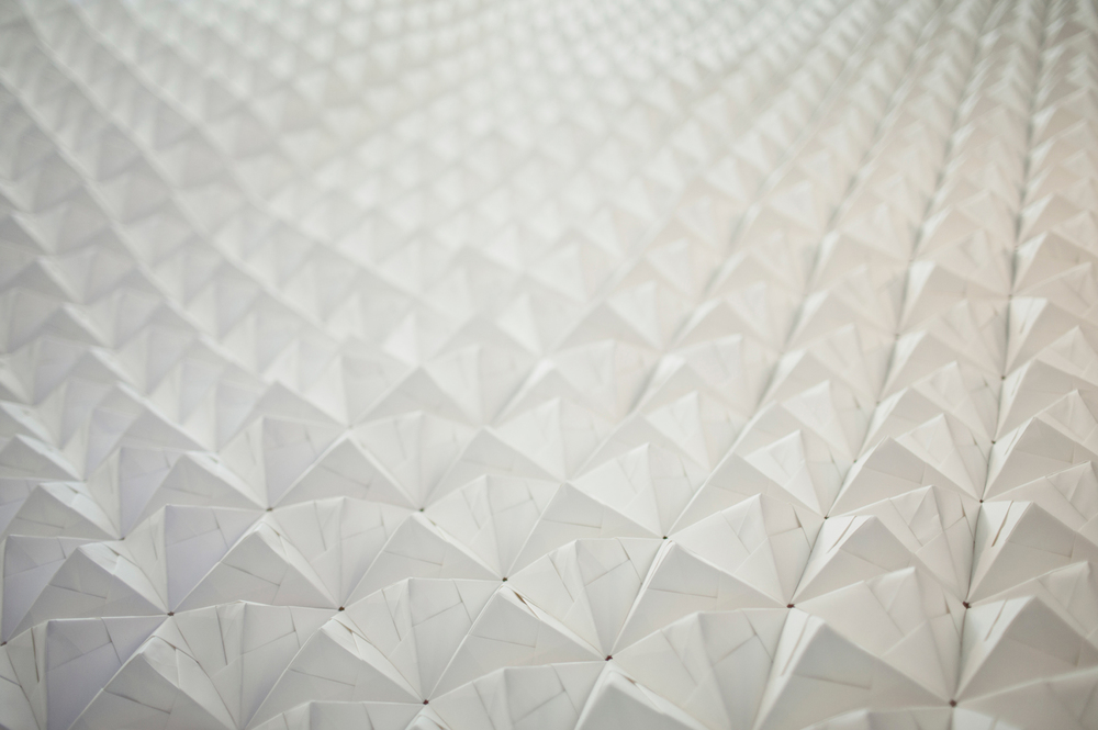 FOLDABILITY Origami wall panel exhibition architecture design gallery 2