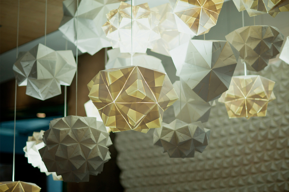 FOLDABILITY Origami lampshade exhibition architecture design gallery 5
