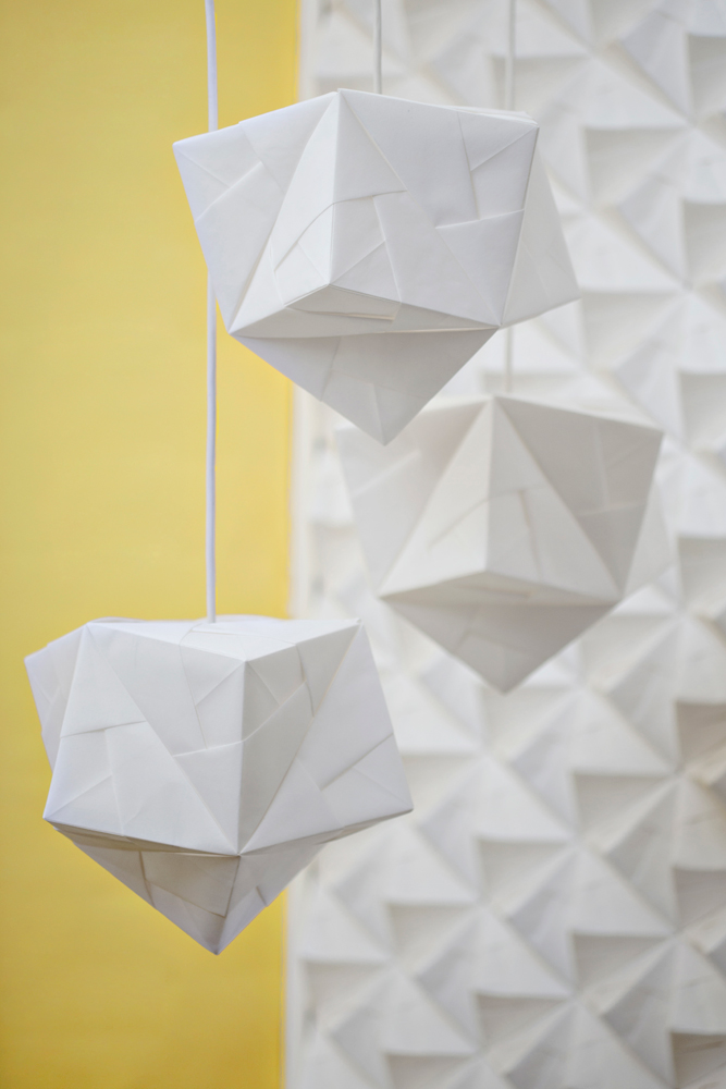 Sonobe light origami lampshade maya