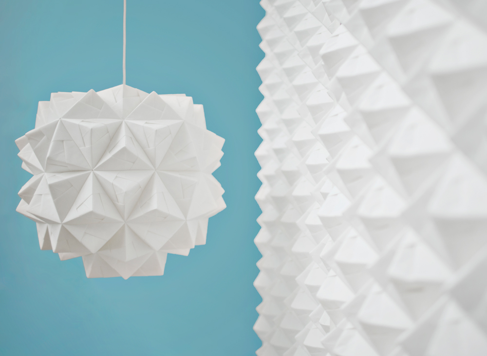 Sonobe light origami lampshade leah