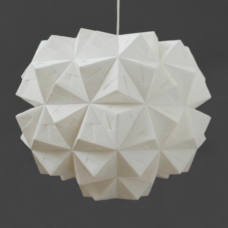 Sonobe light origami lampshade leah pendant
