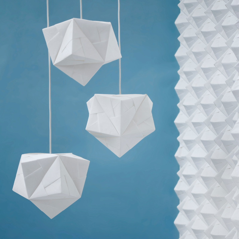 Sonobe light origami lampshade lighting design 4