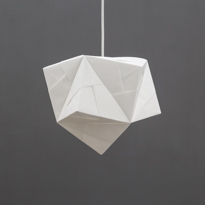 Sonobe light origami maya pendant