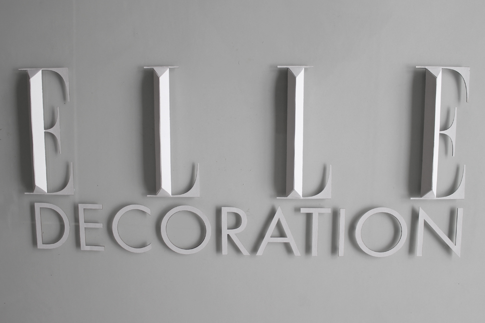 Elle decoration logo paper art