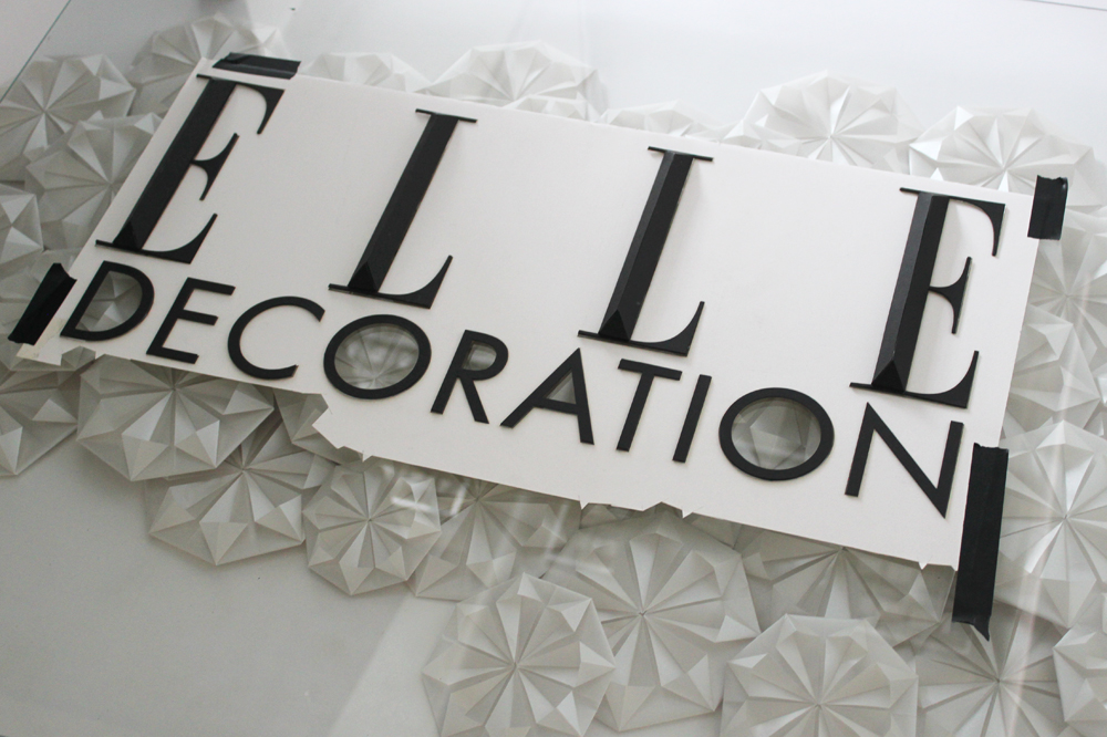 Set design for elle decoration foldability for Elle decor logo