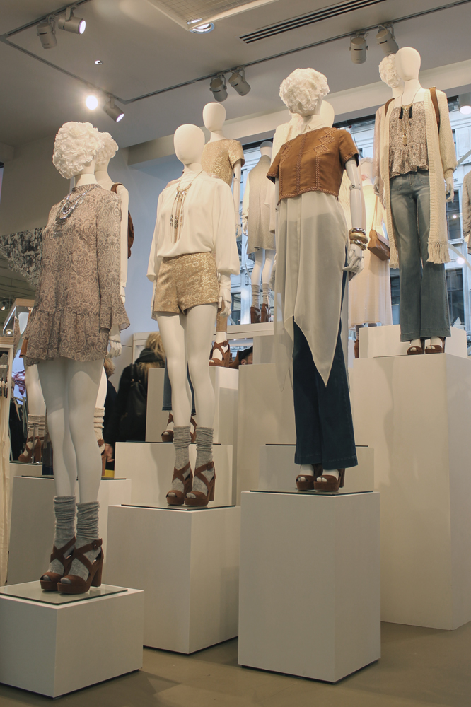 Paper set design london H&M flagship store