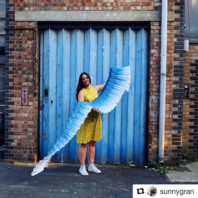Here's a snap by Barbara Chandler who stopped by my studio last week. She is curating the #100%Forward feature space where I will be showing some new work alongside 6 other emerging designers at @100percentdesign. - - - #Repost from @sunnygran ・・・ Look at beautiful Kyla @foldability and her beautiful origami panel which has a life of its own. She is nominated by @elladoran for my project @100percentdesign #100%Forward. I went to photograph her at Bromley-by-Bow and we found this pleated door...do come and see what she has made for the show #origami #pleats #pleatedpaper #bromleybybow #design #designer @l_d_f_official #ldf18 #art #wallpanel #lighting #london #artist @camronpr