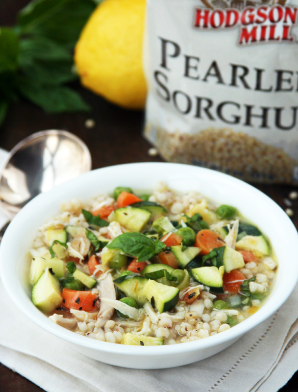 Simple Lemony Chicken Soup with Sorghum