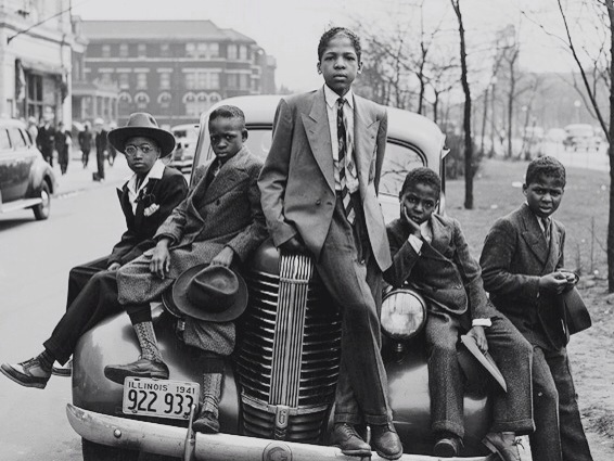 Negro Boys Southside Chicago April 1940