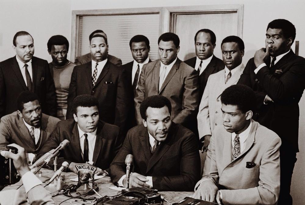 Bill Russell, Muhammad Ali, Jim Brown, Kareem Abdul Jabaar