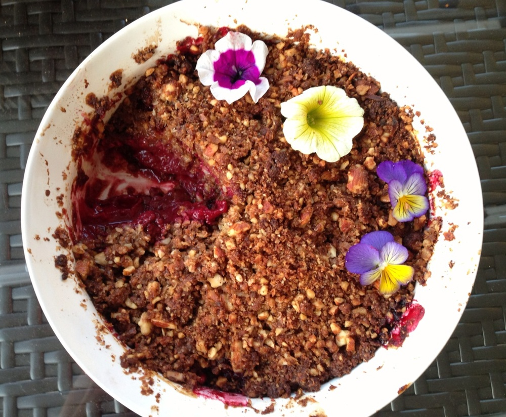 Plum crumble from Little Choc Apothecary; image courtesy of Julia Kravets