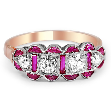 vintage rose gold and ruby ring from Brilliant Earth; image courtesy of retailer