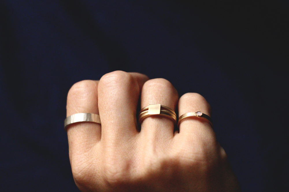 "Rings from Rebecca Mir Grady's fall '14 collection, ""Drift;"" image courtesy of label"