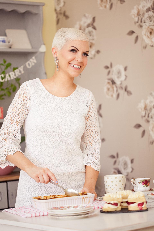 Katy Beskow in the kitchen; image by Katy Winterflood