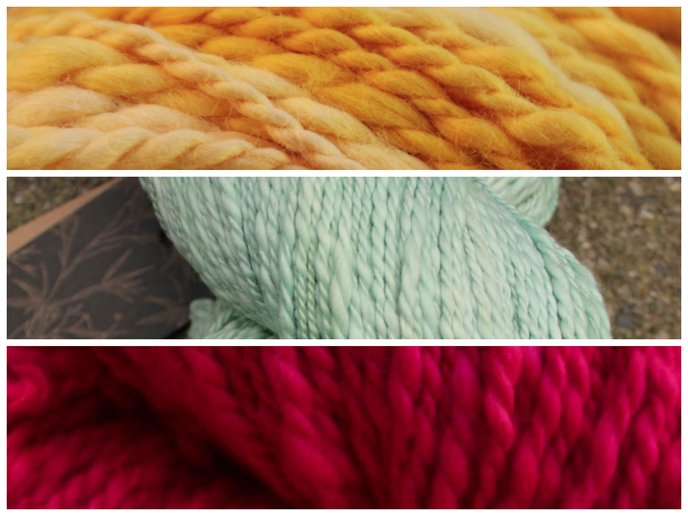 Some offerings from Vegan Yarn; image courtesy of brand