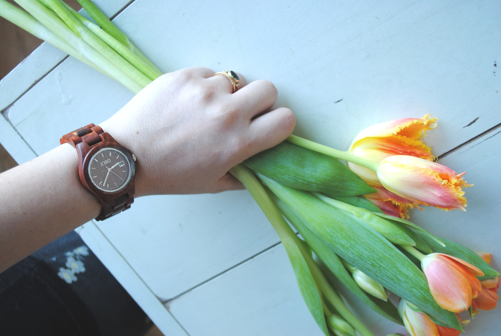 "JORD ""Ely"" watch in cherry; all images by Juliette Donatelli, spades + siLK"