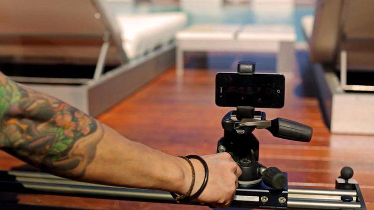 sostenedor del montaje iPhone trípode - Shoulderpod S1