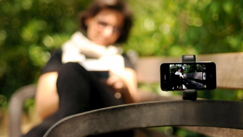 iPhone stand for selfies Shoulderpod S1