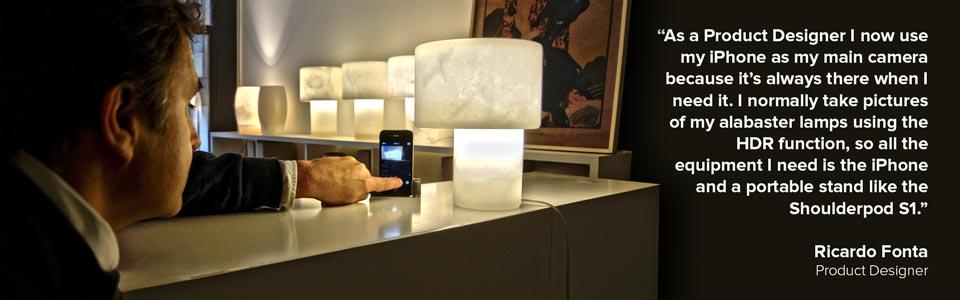 Shoulderpod S1 adjustable smartphone rig - Ricardo Fonta product designer