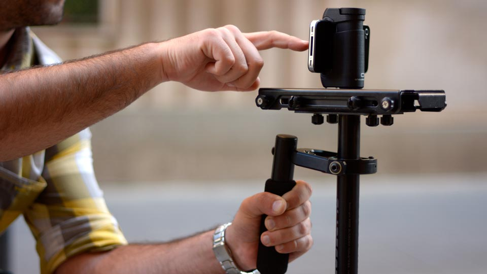 iPhone tripod mount holder on steadycam glidecam - Shoulderpod S1