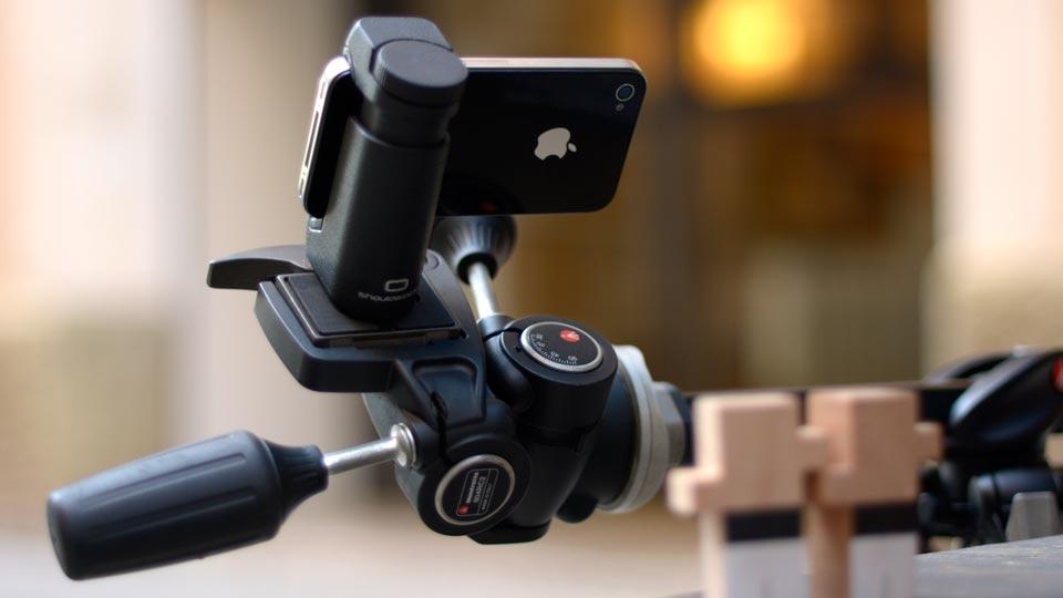 iPhone 5S adjustable tripod mount holder - Shoulderpod S1