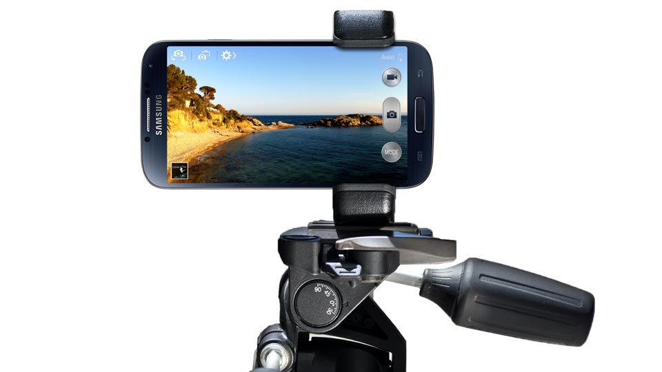 Samsug Galaxy S4 tripod mount holder - Shoulderpod S1