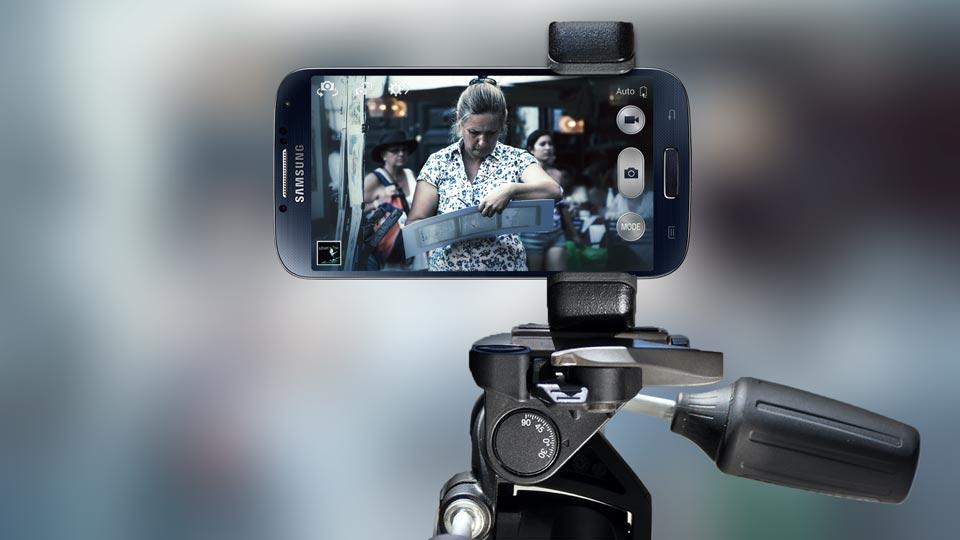 Samsung Galaxy tripod mount adapter