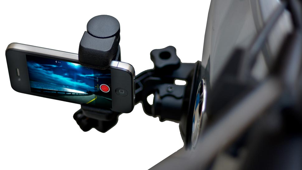 Adjustable smartphone tripod mount grip handle and stand from Shoulderpod S1