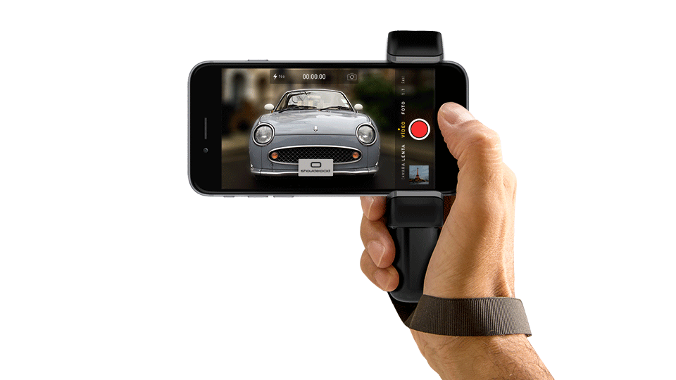 iPhone grip camera handle