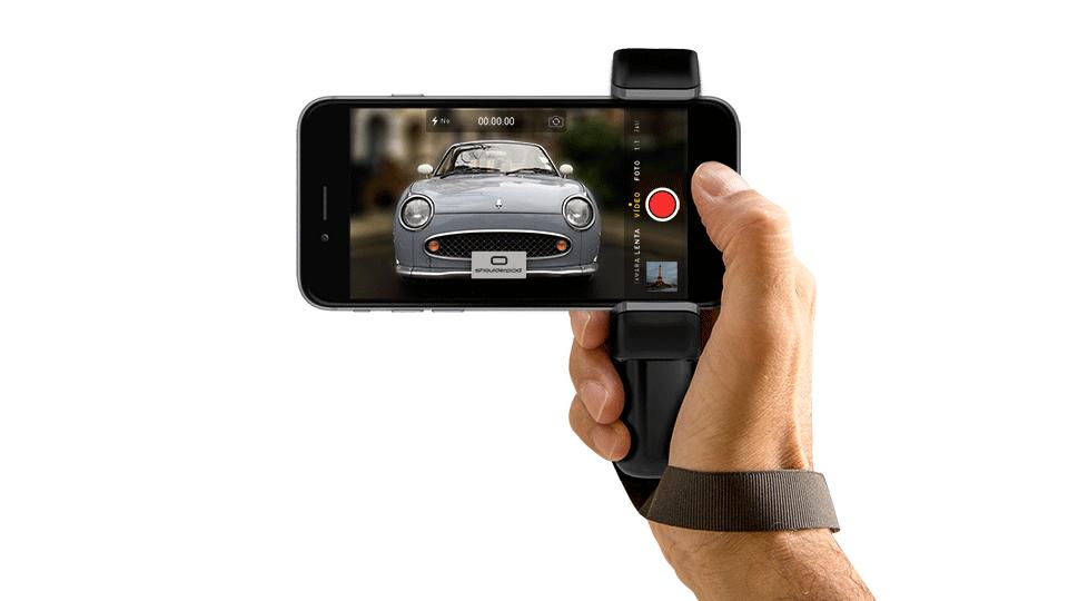 iPhone grip camera handle