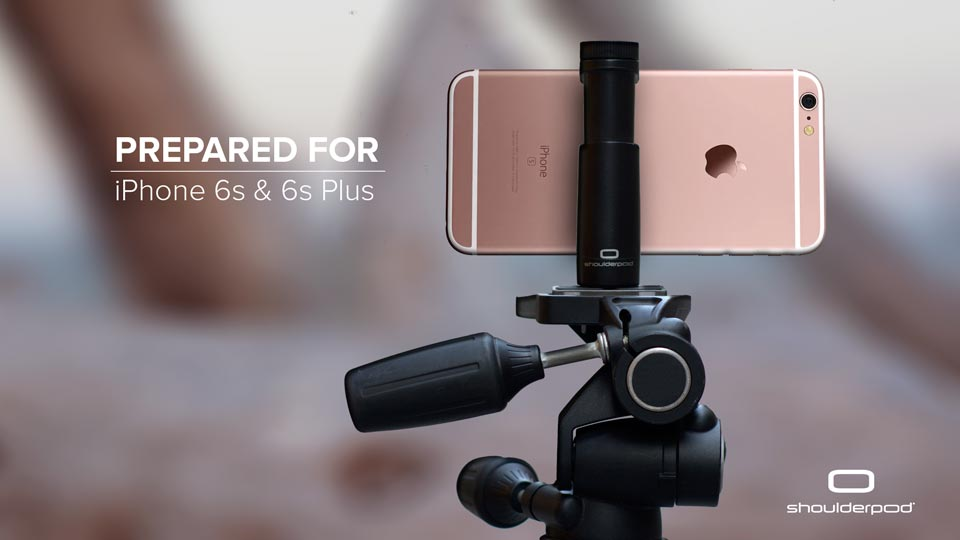 iPhone 6s & 6s Plus tripod mount - Shoulderpod S1