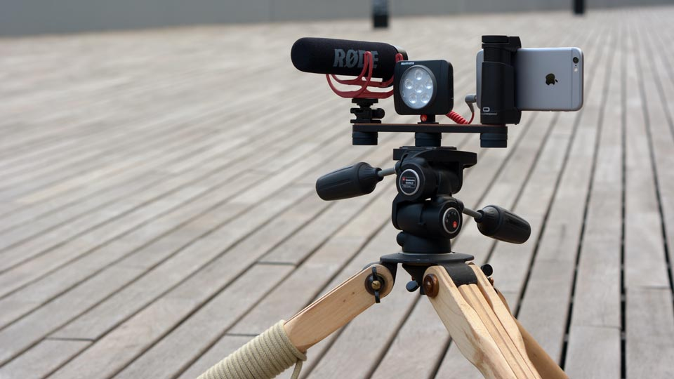 Shoulderpod R1 Pro iPhone rig tripod mount