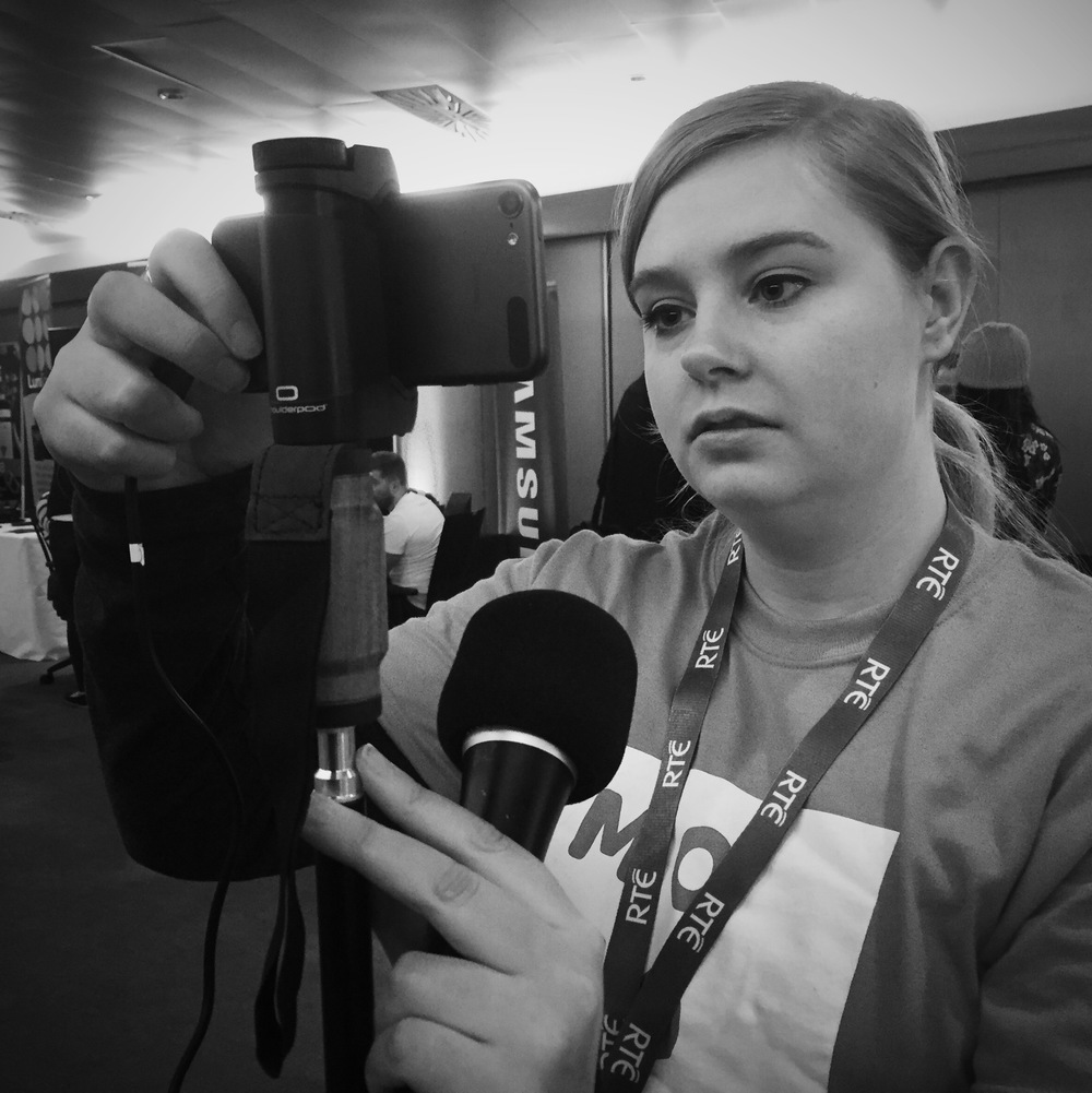 RTE Reporter at MOJOCON 2016  - MOBILE JOURNALISM CONFERENCE DUBLIN - MOJO