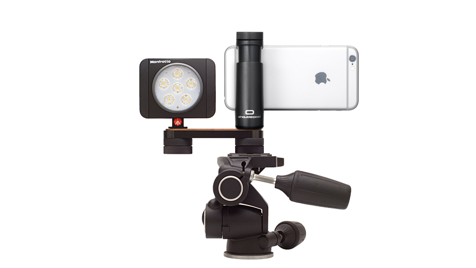 Shoulderpod R2 tripod mount rig for iphone