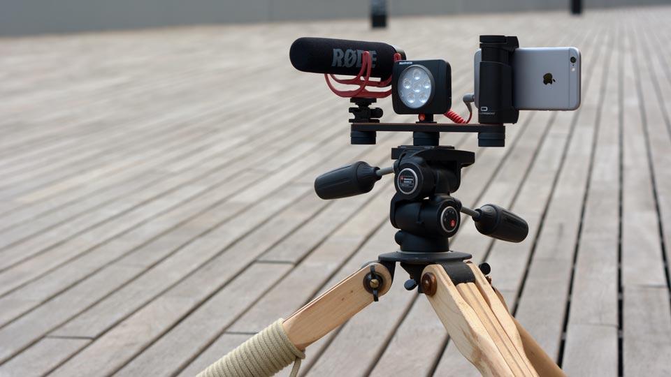 Shoulderpod X1 professional tripod rig for iphone